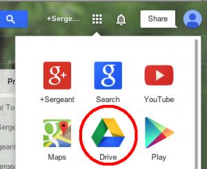 Drive in App menu